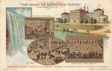 SHREDDED WHEAT BISCUIT NIAGARA FALLS NEW YORK ADVERTISING POSTCARD (1913)