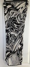 """River Island"" Women's Sarong Style Skirt, Size 12, Black/White design, Exc Cond"