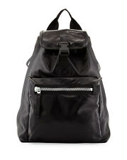 Lanvin Leather Backpack with Glitter Panel, Mix