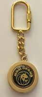 Vintage MGM Grand lion keychain gold toned