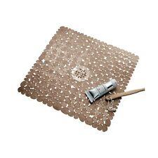 iDesign Pebblz Plastic Suction Non-Slip Bath Mat for Shower, Bathtub, Stall, ...