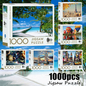 Adult Jigsaw Puzzles 1000 Pieces Set Kids Activity Games Indoor Toy Wall Decor