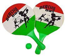 Raquettes de plage en bois beach ball jeux de plage, jouet jardin neuf