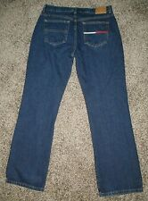 Tommy Hilfiger Jeans Denim Boyfriend Flag Pocket Boot Womens 10 Dark Rinse