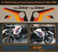 BMW R1100GS 1994-1999 - Tank & Front Fender Stickers Graphics German Flag