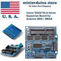 Sensor Shield V5.0 Sensor Expansion Board for Arduino UNO / MEGA servo motor USA