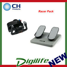 """CH Products """"Racer Pack"""" For PC & Mac (Inc USB Eclipse Yoke & Pedals) CH-RACER"""