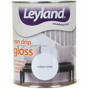Leyland Non Drip Gloss 750ml Brilliant White