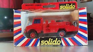 Solido Toner Gam I Mercedes Unimog Fire Engine #2127, 1:50, Die-cast NIB