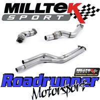"""Milltek Bmw M4 F82 M3 F80 3"""" Downpipes Largebore & Decats Removes Cats SSXBM1031"""