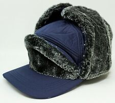 Trapper Ball Cap Outdoor Winter Sport Hat Faux Fur Ear Flap Cover Adult OSFM New
