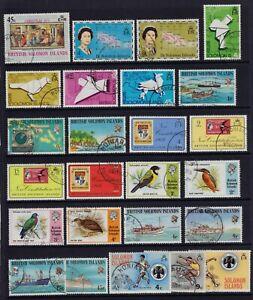 British Solomon Islands fine used 1973-1975 issues
