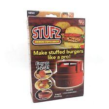 STUFZ Stuffed Burger Press Hamburger Grill BBQ Patty Maker Juicy As Seen OnTV UK
