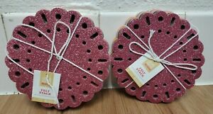 """Hand Made Modern 16 Pieces 6"""" Felt Stack Assorted Glitter & Solid Colors- 2 Pks."""