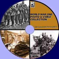 WORLD WAR 1 18000+ HISTORIC PHOTO IMAGES & VIDEO VINTAGE ARCHIVES PC-DVD NEW