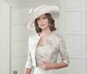John Charles London 26654 H45 Champagne Mother of the Bride Wedding Cocktail Hat