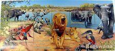 BOTSWANA WILD ANIMAL STAMPS SHEET WILDLIFE STAMPS LION ELEPHANT BUFFALO BABOON