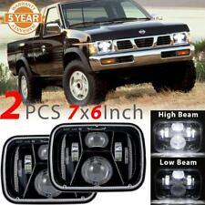 "2x 150W 7x6"" 5X7 LED Headlight Hi-Lo Beam Lamp For Nissan Pickup Hardbody Truc"