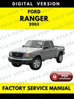 Ford Ranger 2003 Service Repair Workshop Manual