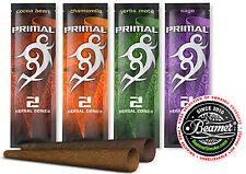 6 Packs of 2 - Variety Primal Herbal Cones. Non Tobacco Non Nicotine. 4 Smoking