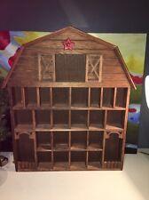 Vintage Barn Wooden Wood Wall Hanging Miniature HOUSE Shelf Shadow Box Display