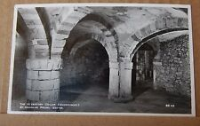Postcard St Nicholas Priory  Exeter Undercroft Real photo unposted
