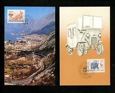 Postal History Yugoslavia FDC #1631-1632 SET OF 2 Maximum Card auto service 1983