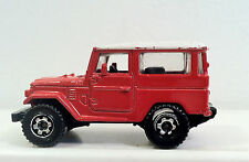 Matchbox TOYOTA LAND CRUISER.  Red and White1:64 Scale Die-cast Vehicle. Rare.