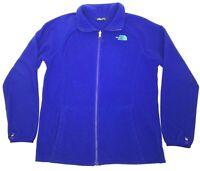 The North Face Girls Fleece Sweater Jacket Blue Full Zip Mock Neck Pockets XL