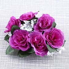 Roses Centerpieces Wreath Wedding Party Candle Rings Flower Decoration Silk