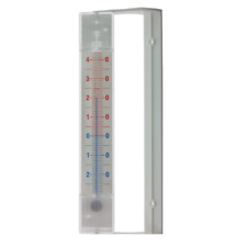 WINDOW THERMOMETER INDOOR OUTDOOR GARDEN CONSERVATORY EASY TO FIX - IN-007