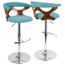 OPEN BOX Gardenia Mid-Century Modern Adjustable Barstool with Swivel in Walnu...