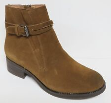 60f8a849cde9 GENTLE SOULS PERCY WOMEN S WALNUT BROWN SUEDE LEATHER ANKLE BOOTS BOOTIES  NEW