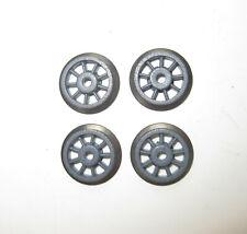 4 Fleischmann Dampflok-Räder, grau, Ø 13,3 mm (37)