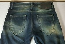 Diesel Jeans Black Gold Men's 27/28 Made Italy Distressed Denim Blue Designer