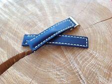 Breitling Watch Strap 20mm HANDMADE blue + Deployment Clasp