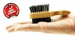MINI BOAR BRISTLES CLUB BRUSH *SOFT AND HARD BRISTLES* FOR HAIR AND BEARD