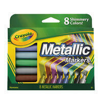 Crayola Metallic Markers, Assorted Pack of 8