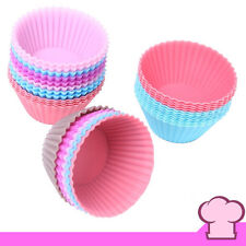6 PZS - Moldes Silicona Magdalenas Cupcakes - Varios Colores - 5 Cm Ø Repostería