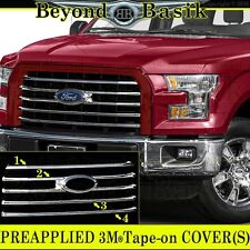 2015 2016 2017 FORD F150 Chrome Grille Grill COVER OVERLAY INSERT XLT 5 bar Des