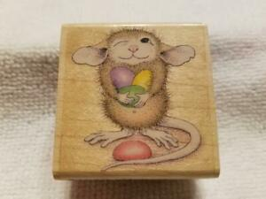 House Mouse Mudpie Holds Jelly Beans Rubber Stamp RARE Scrapbooking Card Making