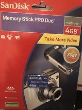 SAN DISK MEMORY STICK PRO DUO 4 GB