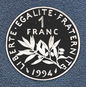 1 FRANC 1994 SEMEUSE FDC SORTIE DU COFFRET BE