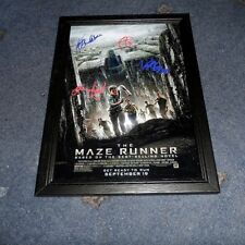 "THE MAZE RUNNER CASTX4 PP SIGNED FRAMED A4 12""X8"" PHOTO POSTER DYLAN O BRIEN"