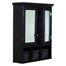 Bathroom Medicine Cabinet W Mirrored Double Doors Home Storage Expresso Finish