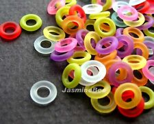 Frosted Angel Halo Rings Acrylic Plastic Beads 7mm*50pcs