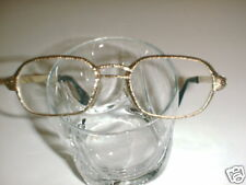 Mens Vintage German  Eyeglasses textured Gold Nice!