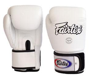 Fairtex Muay Thai Boxing Gloves BGV1 White Training Sparring Kick MMA K1 12 - 16