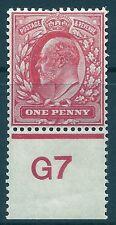 Sg 220 M5(4) 1d Rose Carmine Control G7 perf single MOUNTED MINT