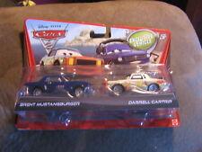 DISNEY CARS 2 BRENT MUSTANGBURGER & DARRELL  2-PACKS